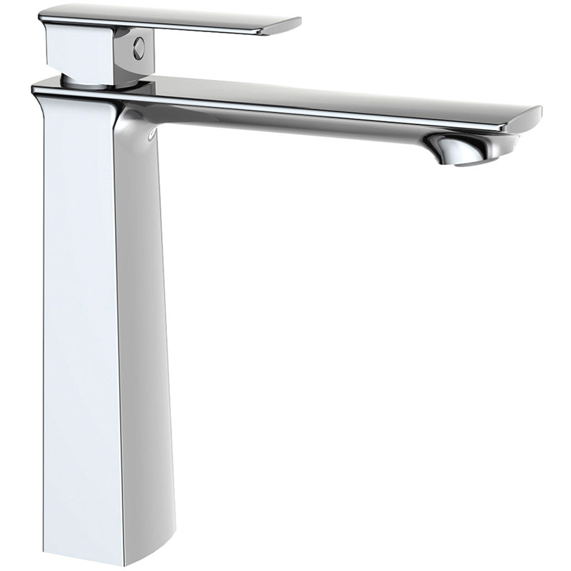 High neck lavatory faucet with Water-Efficient