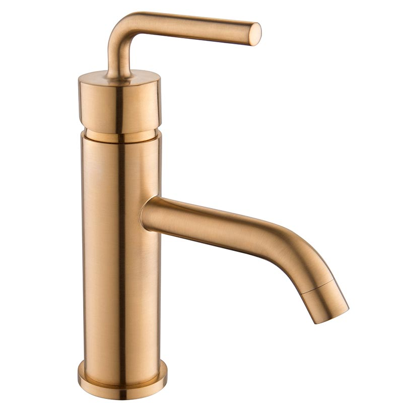 Golden brush Mixer Vessel Sink Faucet, One Hole