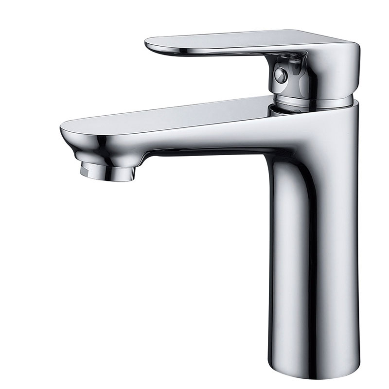 Single lever bathroom basin faucet