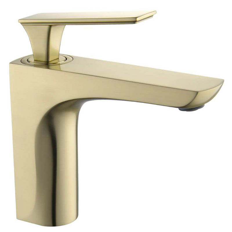 Brushed Nickel Gold Finish Bathroom Basin Faucet