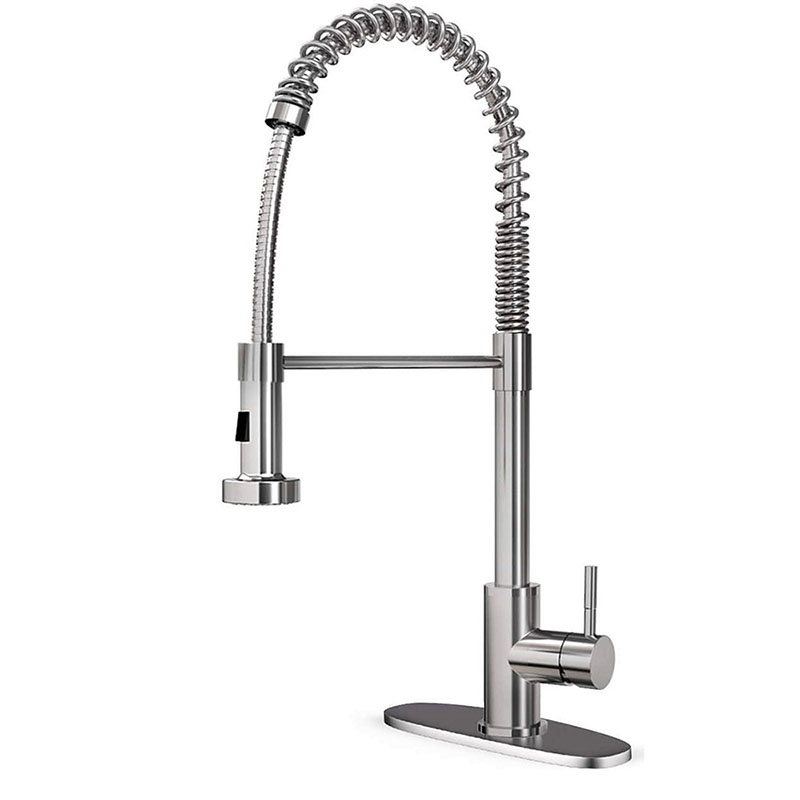 Luxury kitchen faucet with pull out sprayer head