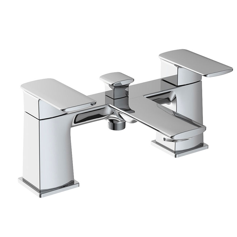 Bathtub two handle faucet 2 ways outlet for shower head