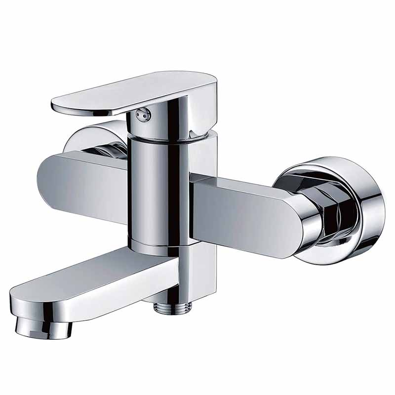 Bathtub shower faucet with swivel spout in 2 ways outlet
