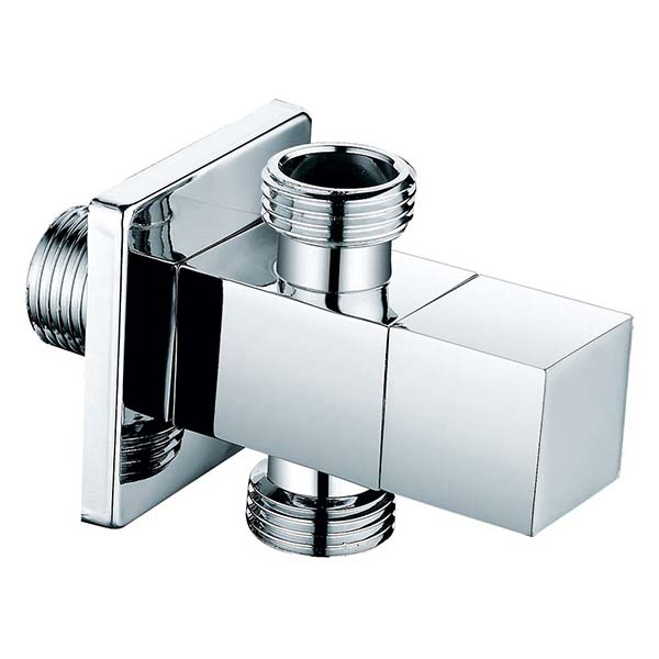 square wall mounted angle valve with 1 in 2 ways
