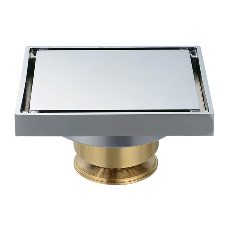 Copper Invisible Plating Square Shower Drain,Tile Insert