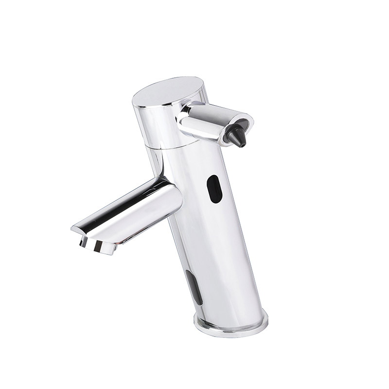 2 in 1 Touchless Bathroom Sink Faucet  with Auto Soap Dispenser