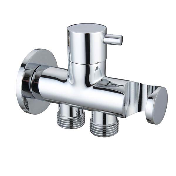 Double Outlet Water Shut Off Angle Valve
